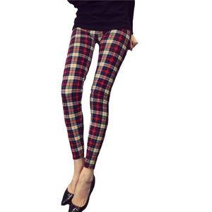Pants - Women's XJ Boost Tartan Plaid leggings Pants Sz S